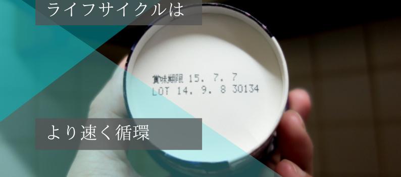 ライフサイクル(賞味期限)