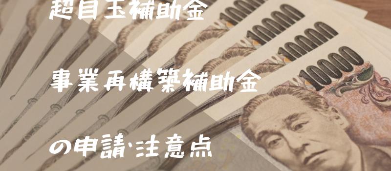 【事業再構築補助金】の対象・申請方法・いつから・注意点